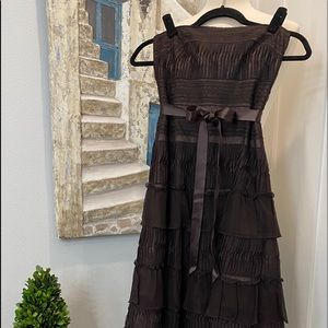 BCBGMAXAZRIA Strapless Formal Dress